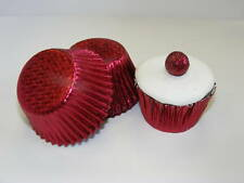 50 x BURGUNDY Foil Muffin / Cup Cake cases