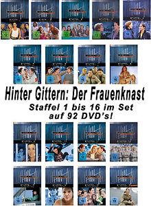 92 DVDs * HINTER GITTERN - DER FRAUENKNAST - STAFFEL 1 - 16 IM SET  # NEU OVP §