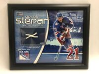 NY Rangers Derek Stepan Authentic Piece Of Game Used Goal Net, Steiner