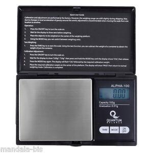 Balance  Electronique QUANTUM Alpha 100G - LOT DE 10 !