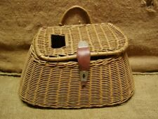 Vintage Weaved Fishing Creel > Old Antique Fish Sport 4539