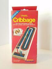 Travel Cribbage Game Continuous 3 Track Vintage Pressman Orig. Sealed Cards Incl