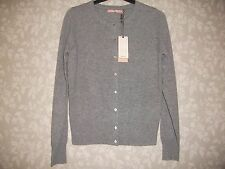 LADIES BEAUTIFUL JOHN LEWIS CASHMERE GREY CARDIGAN CREW NECK UK10 RRP £75 BNWT