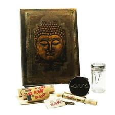 """Zen"" Buddha Book Stash Box Raw Accessories Bundle, 8 Pc. Smoking Bundle"