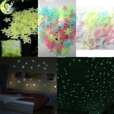 40/100 Pcs Wall Glow In The Dark Stars Stickers Kids Bedroom Ceiling Decor Funny