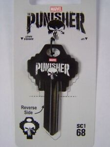 Marvel Punisher Schlage SC1 house key blank