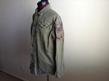 NEW FREE PEOPLE $168 Embellished Military Shirt Jacket* Olive*M ***SOLD OUT***