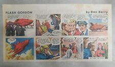(52) Flash Gordon Sunday Pages by Dan Barry from 1980 Size: 7.5 x 14 inch