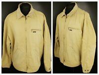 Diesel Mens Vintage Jacket LARGE Coat Beige Denim Bomber Part Cord