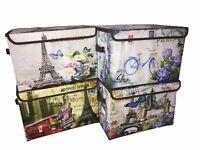 4x Faltbox 36.5cm x 24cm x 24cm Box Regalbox Aufbewahrungsbox faltbar mit Deckel