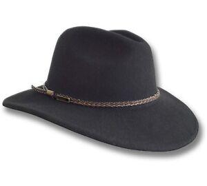 【oZtrALa】Felt HAT Fedora Indiana Jones AUSTRALIAN-Wool Mens Leather Band Cowboy