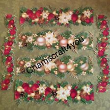 Craft clearout mix, card toppers,paper die cuts, bundle joblot Christmas Garland