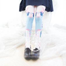 Anime Game Overwatch D.VA Cute Bunny velvet Stockings Knee-high socks Cosplay