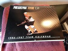 1986 Philadelphia Flyers Team Calendar NHL Hockey Many Pictures of Players