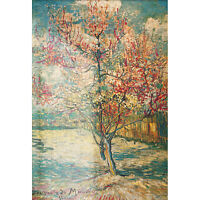 Peach Tree in Blossom by Vincent Van Gogh Jigsaw Puzzle 1000 Pieces Toys Hobbies