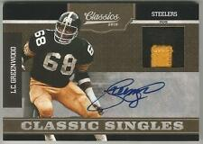 LC Greenwood 2010 CLASSICS PRIME GAME WORN JERSEY AUTO CARD #4/5 SIGNED Steelers