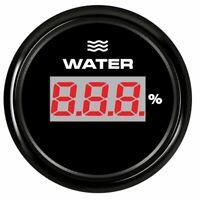 52mm Waterproof Car Boat Tuck Digital Water Level Gauge Meter 0-190ohm Signal