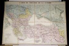 Gr Carte Théâtre de la Guerre 1877/78 Front d'Orient Guerre Russo-Turque Balkans