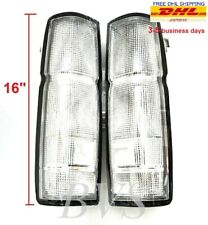 CLEAR TAIL REAR LIGHT HOUSING US Model Pair For 86-96 Nissan D21 Frontier Navara