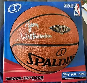 Zion Williamson New Orleans Pelicans Autographed Spalding Logo Basketball