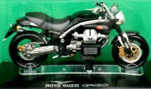 "Moto Guzzi, ""GRISO"", Black, 1:24 Scale Model, In Display Case, By Starline Model"
