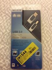 New Belkin Premium Printer Cable USB 2.0 Windows Mac Printer Cable