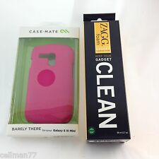 Case.Mate Barely There Case Samsung Galaxy SIII Mini Pink+Free ZAGG Cleaner-New