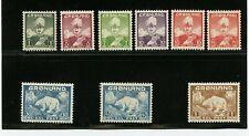 Greenland #1-9 (Gr858) Comp Christian X & Polar Bear, M, Lh, Vf
