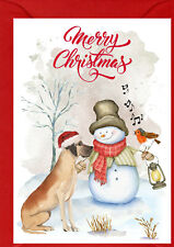 "Great Dane Dog A6 (4"" x 6"") Christmas Card- Blank inside - by Starprint"