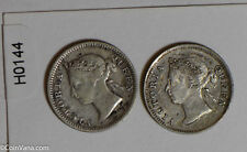 Hong Kong 1893 /1900 5 Cents silver lot of 2 coins H0144 combine shipping