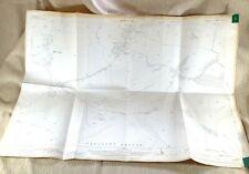 1939 Antik Map Of East Sussex Lang Mann Von Wilmington Windover Hill Eastbourne