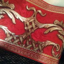 wunderschöne Barock Bordüre ROT,GOLD,Braun ,VERSAC  5m lang 17,7 cm breit