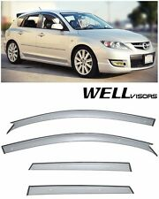 For 04-09 Mazda 3 Hatchback WellVisors Side Window Visors Premium Rain Guards