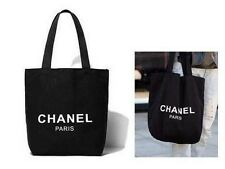 CHANEL VIP GIFT Black Canvas Tote Beach Shoppers Ladies BAG UK Seller BRAND NEW!