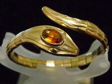 Art Deco Schlangen Armreif /Armband Rolled Gold vergoldet Pforzheim /Schlange