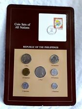 Coin Sets of All Nations Franklin Mint Rep of the Philippines 7 Coins Uncirlated