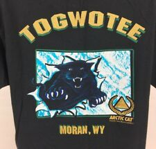 Vintage Arctic Cat T-Shirt XL Togwotee Moran, Wyoming Made in USA Snowmobile