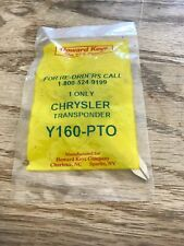 New Howard Keys Y160-Pto Chrysler Transponder Key