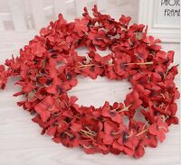 Burgundy Red Artificial Flower Ivy Vine Hanging Garland Wedding Party Decoration