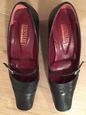 Designer INNOVARE Brand Leather Black Shoes.Great for Work. Made in Spain. Sz 40