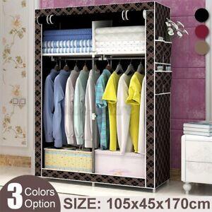 105x45x170cm Non-woven Fabric Wardrobe Home Clothes Closet Storage Organizer SU