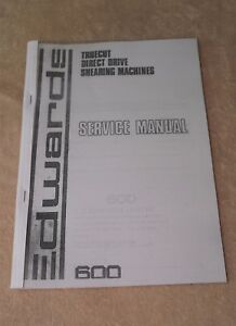 Edwards Truecut Direct Drive Shearing Machine Manual