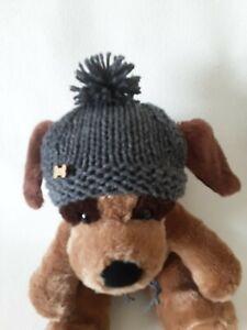 Hand Knit  Chunky  M/L  Dog Pompom Hat