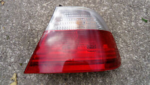 BMW E46 Coupe Driver Side Rear Light Unit Clear & Red
