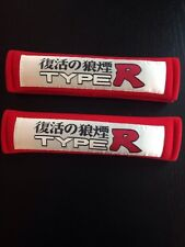 Type R Apc Red Shoulder Pads Car/Truck/Rv Seat Belt  Harness Strap Universal
