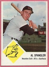 1963 Fleer Al Spangler Houston Colt .45s #39 (exmt) (no creases/off-center)
