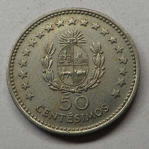 Uruguay 50 Centesimos 1960(l) Copper-Nickel KM#41 UNC