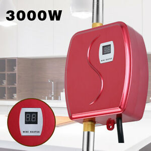 3000W Electric Tankless Instant Hot Water Heater Shower Kitchen Tap Faucet 110V