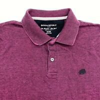 Banana Republic Polo Shirt Mens M Purple Black Short Sleeve 100% Cotton Casuals