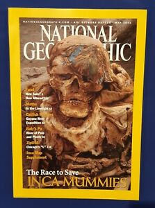 National Geographic Magazine-May 2002-The Race To Save Inca Mummies-Italy's Po